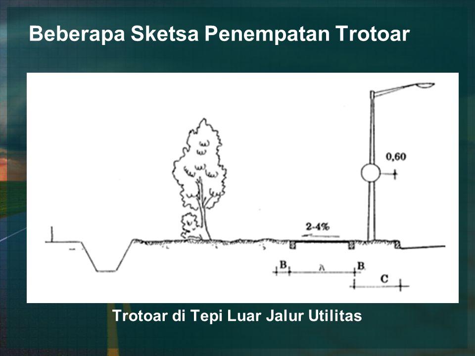Beberapa Sketsa Penempatan Trotoar