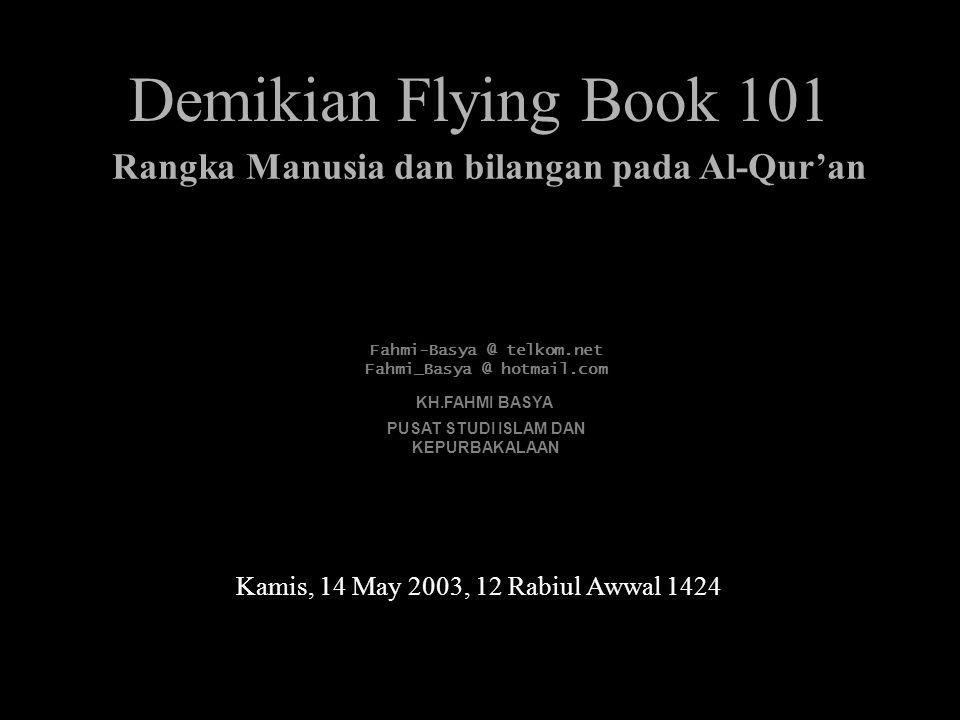 Demikian Flying Book 101 Rangka Manusia dan bilangan pada Al-Qur'an