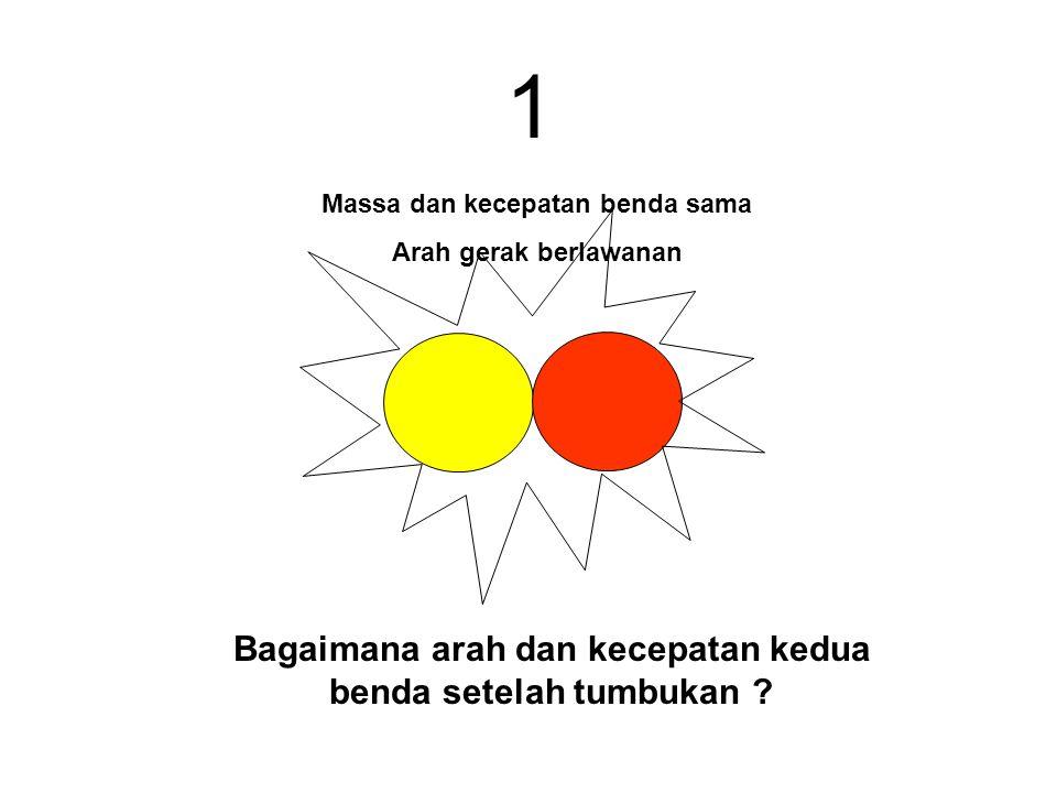 1 Bagaimana arah dan kecepatan kedua benda setelah tumbukan
