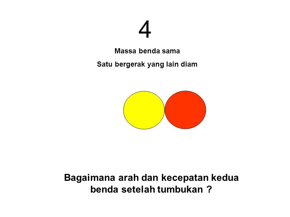 4 Bagaimana arah dan kecepatan kedua benda setelah tumbukan