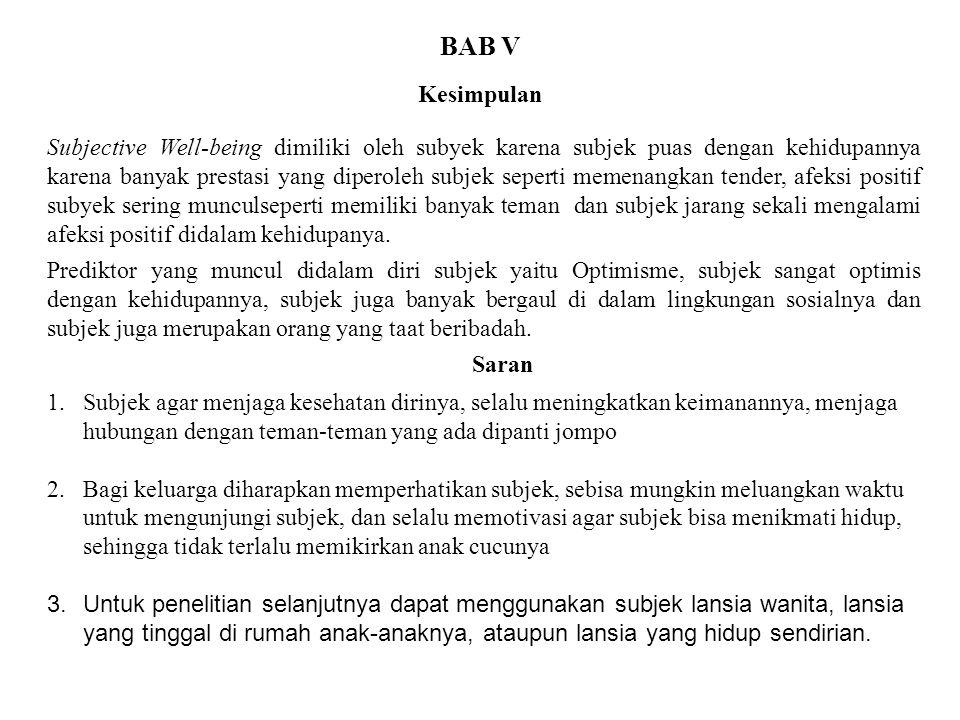BAB V Kesimpulan.