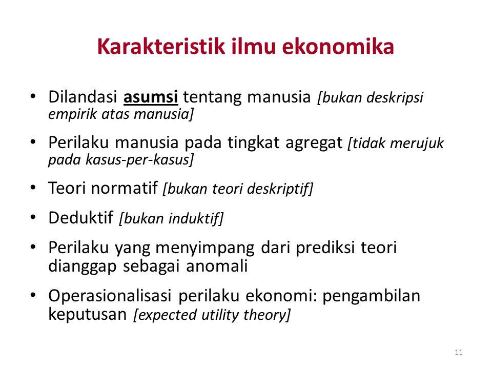 Karakteristik ilmu ekonomika