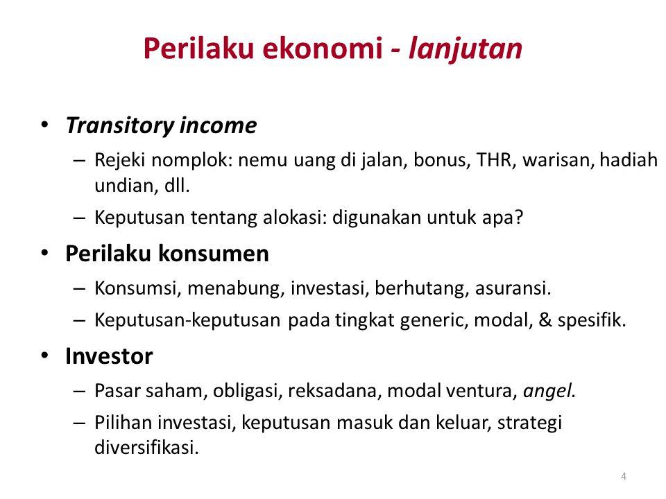 Perilaku ekonomi - lanjutan