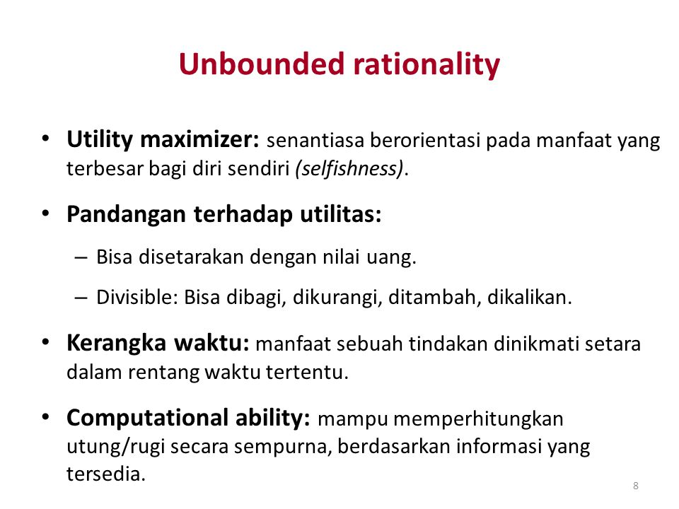 Unbounded rationality