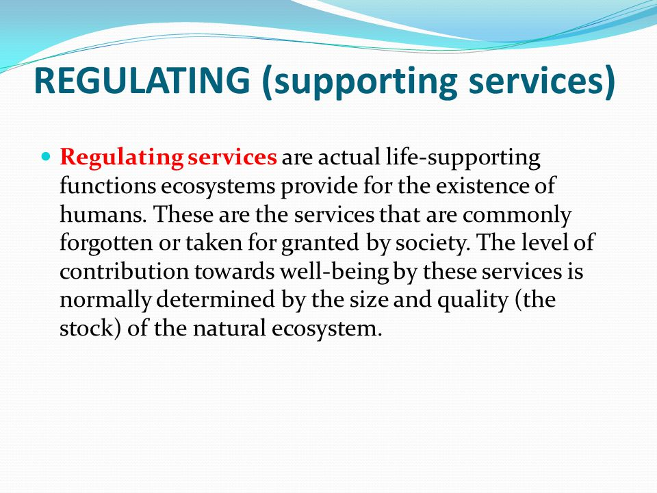 REGULATING (supporting services)