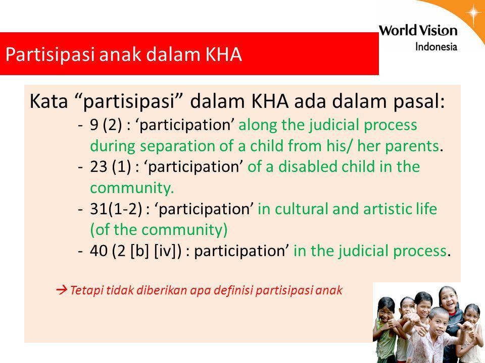 Partisipasi anak dalam KHA