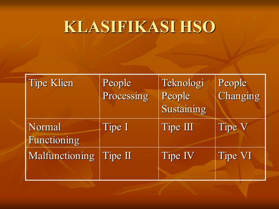 KLASIFIKASI HSO Tipe Klien People Processing