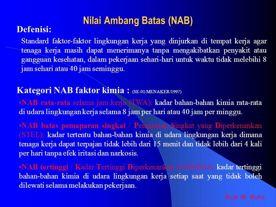 Nilai Ambang Batas (NAB)