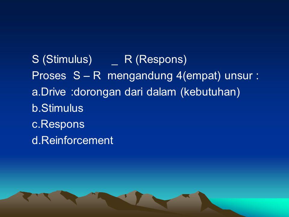 S (Stimulus) _ R (Respons)
