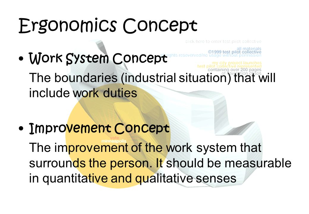 Ergonomics Concept Work System Concept