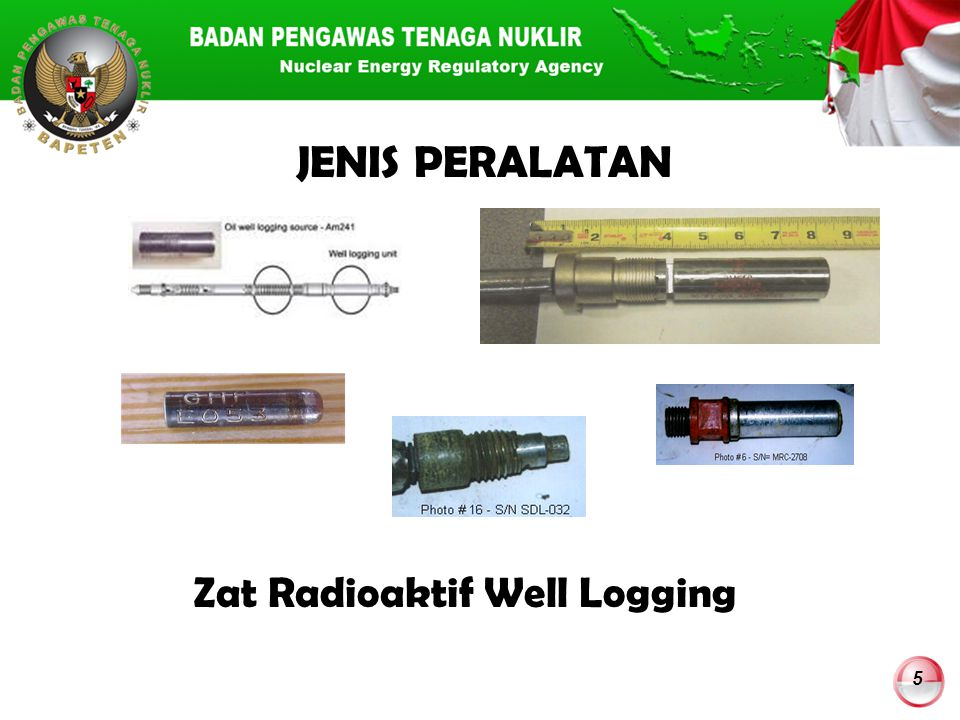 Zat Radioaktif Well Logging