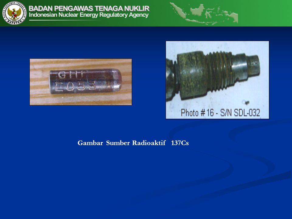 Gambar Sumber Radioaktif 137Cs