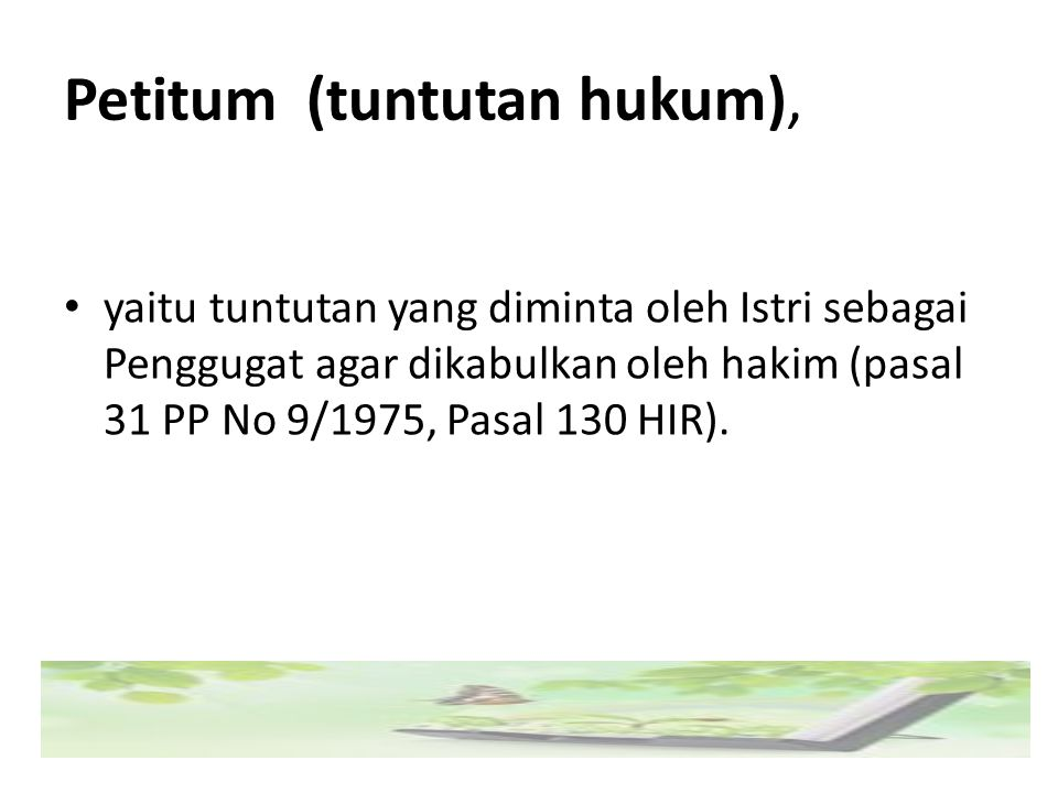 Petitum (tuntutan hukum),