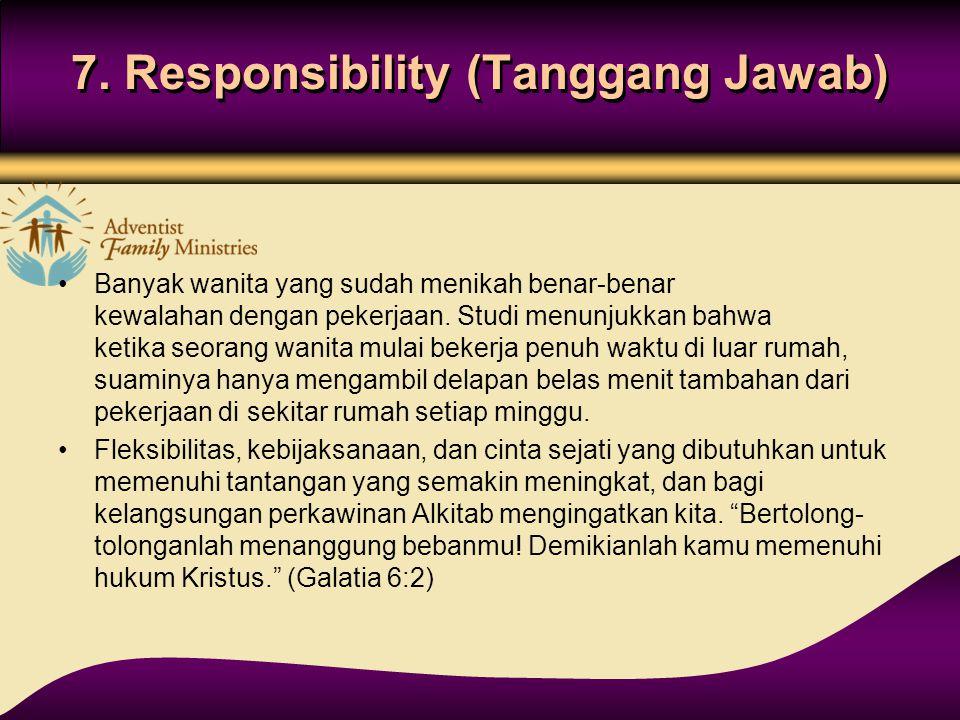 7. Responsibility (Tanggang Jawab)