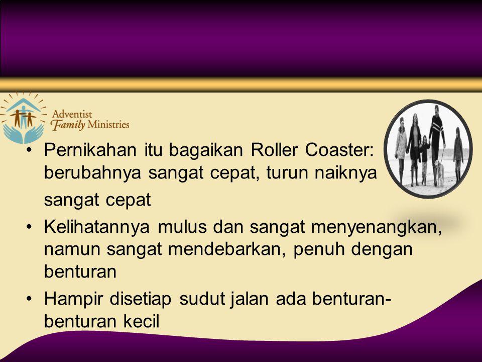 Pernikahan itu bagaikan Roller Coaster: berubahnya sangat cepat, turun naiknya
