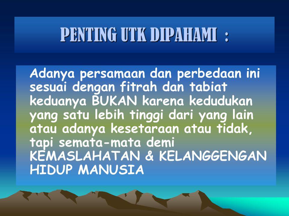 PENTING UTK DIPAHAMI :