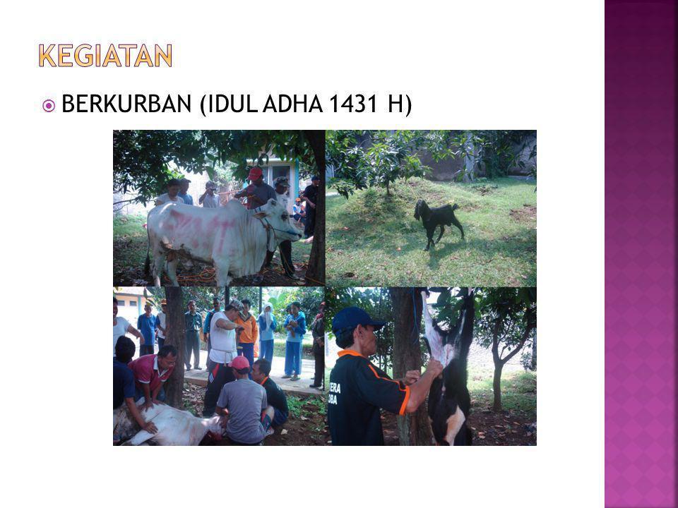 KEGIATAN BERKURBAN (IDUL ADHA 1431 H)