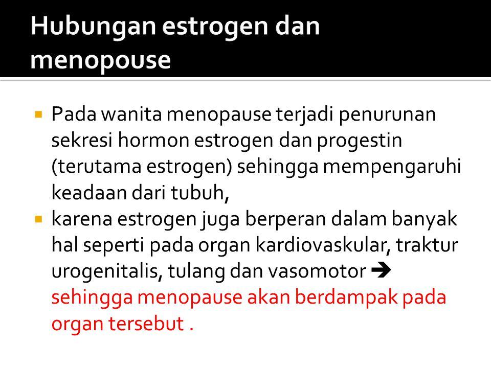 Hubungan estrogen dan menopouse