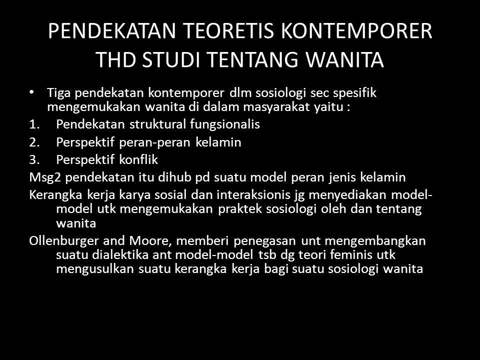 PENDEKATAN TEORETIS KONTEMPORER THD STUDI TENTANG WANITA