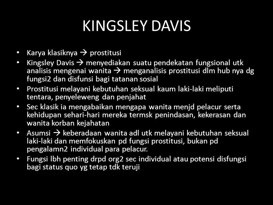 KINGSLEY DAVIS Karya klasiknya  prostitusi