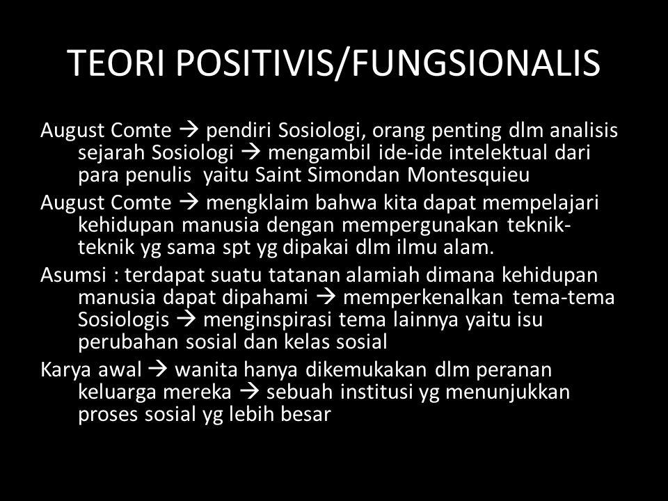 TEORI POSITIVIS/FUNGSIONALIS
