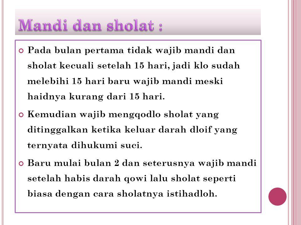 Mandi dan sholat :