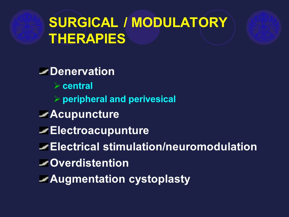 SURGICAL / MODULATORY THERAPIES