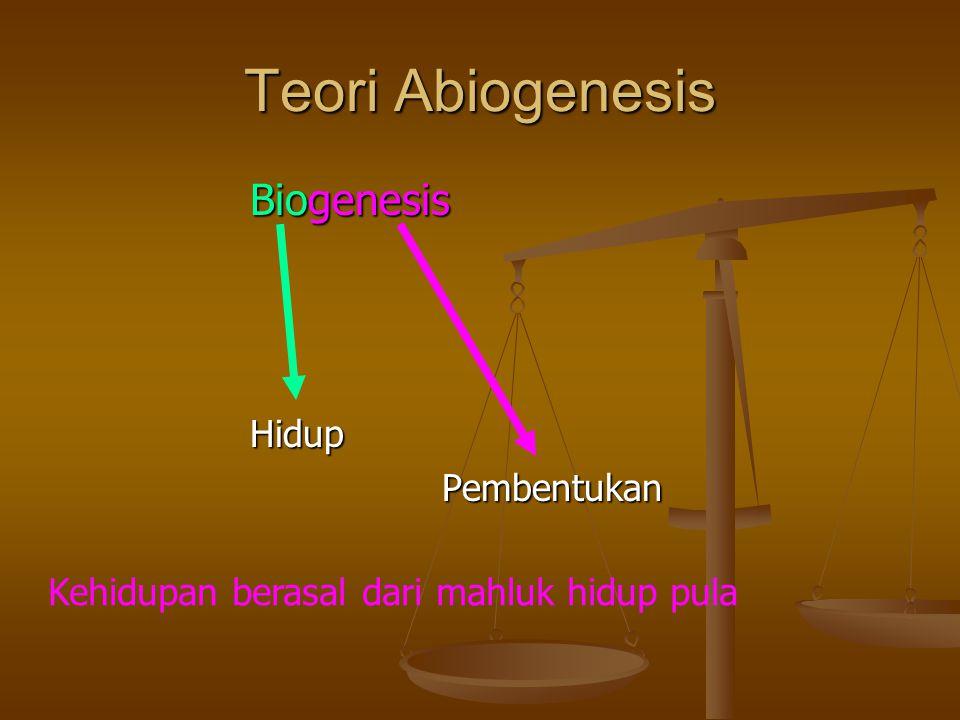 Teori Abiogenesis Biogenesis Hidup Pembentukan
