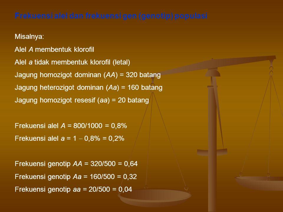 Frekuensi alel dan frekuensi gen (genotip) populasi