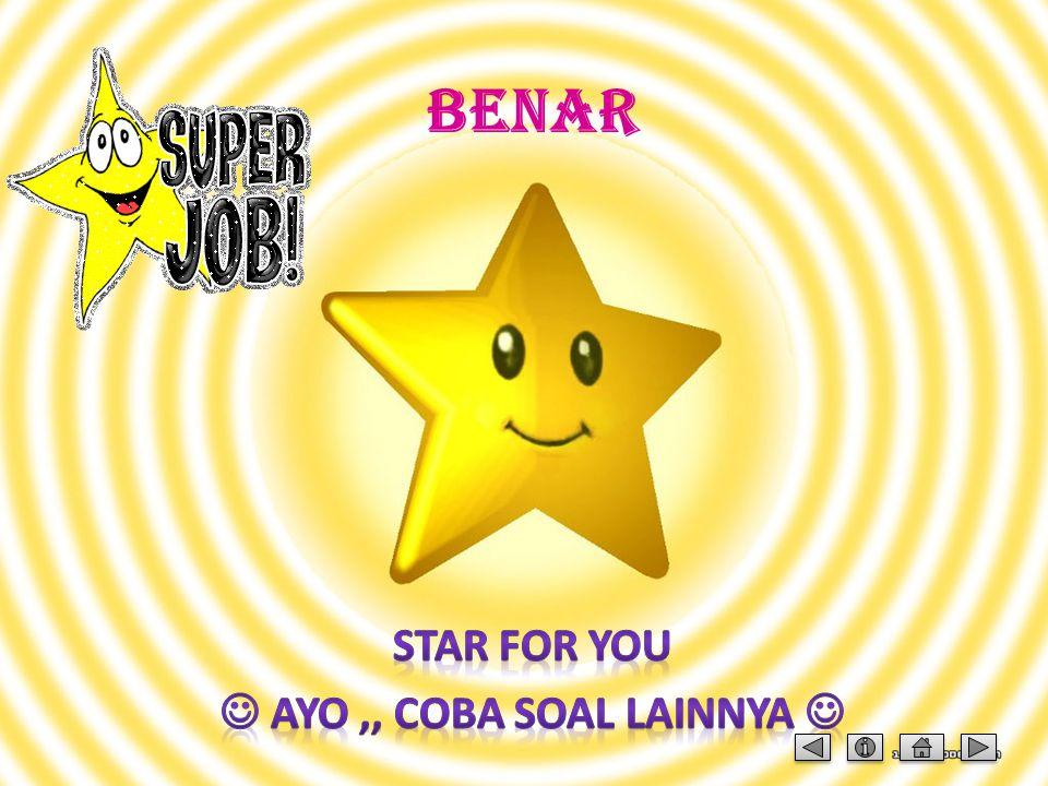 STAR FOR YOU  AYO ,, COBA SOAL LAINNYA 