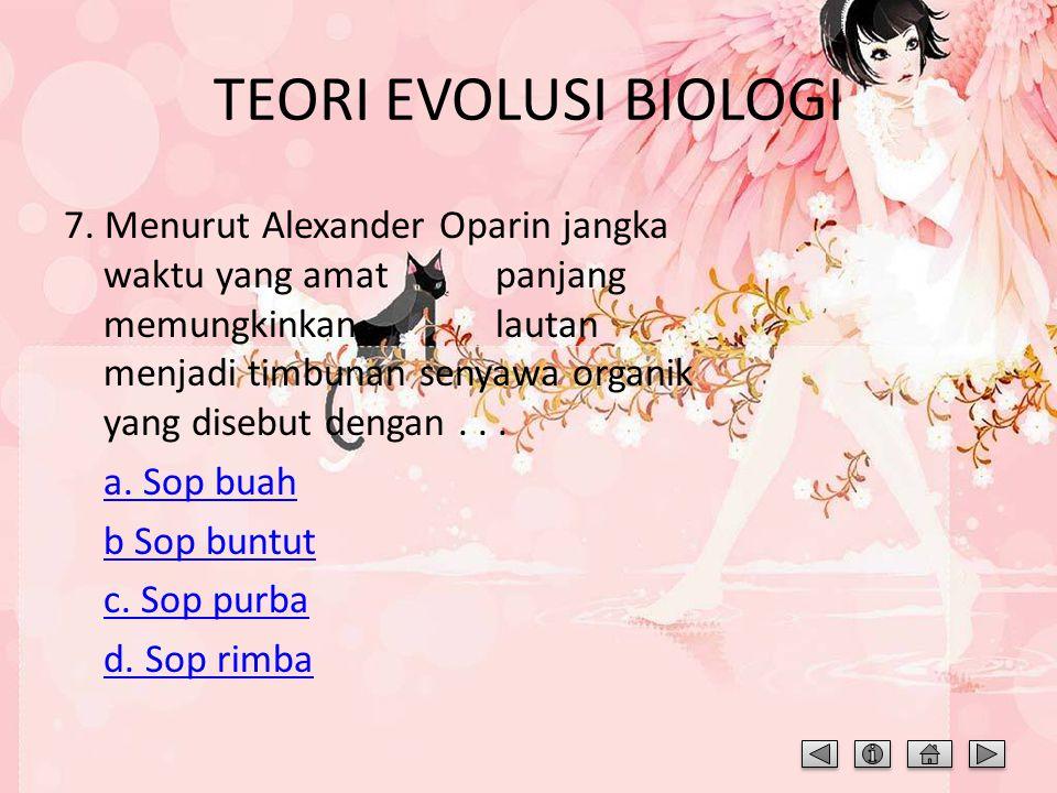 TEORI EVOLUSI BIOLOGI
