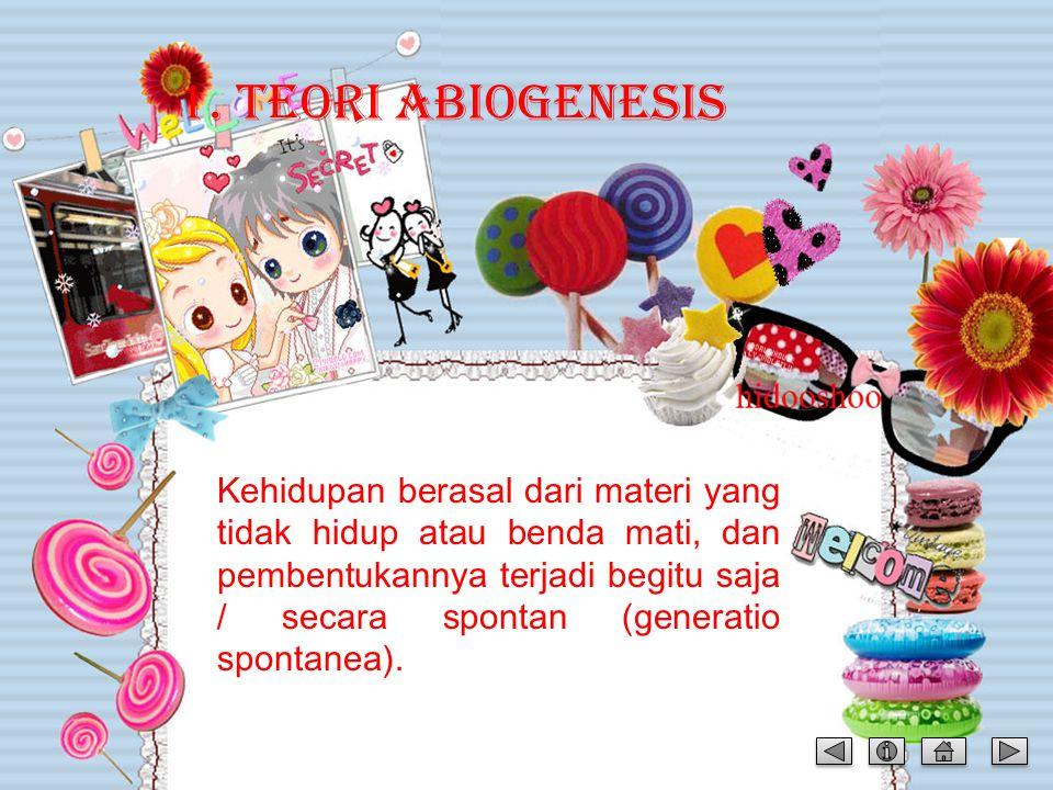 1. TEORI ABIOGENESIS