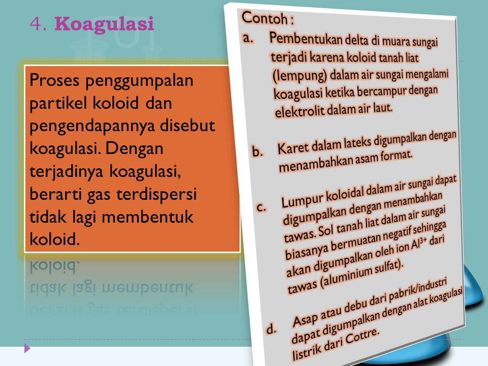 4. Koagulasi Contoh :