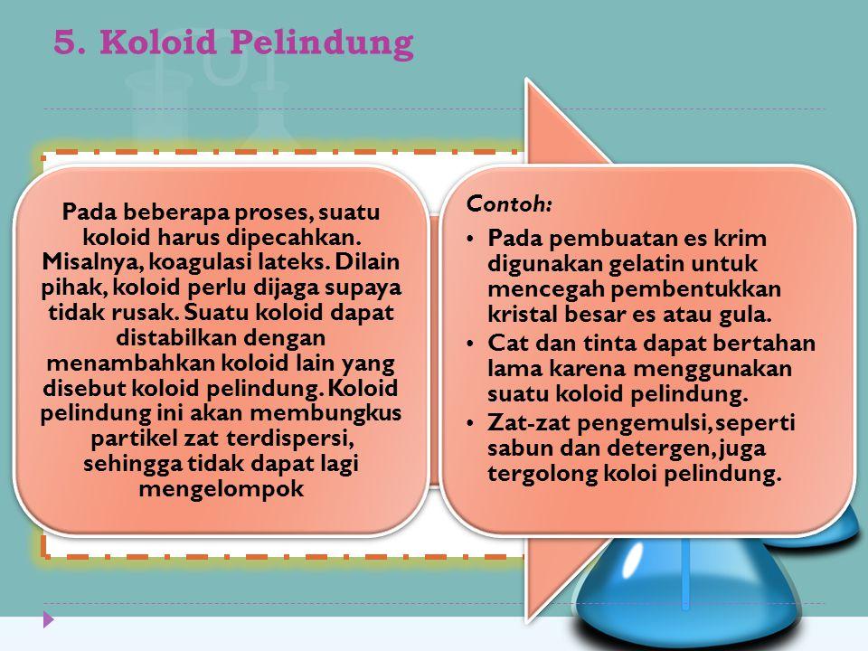 5. Koloid Pelindung Contoh: