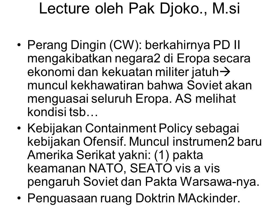 Lecture oleh Pak Djoko., M.si