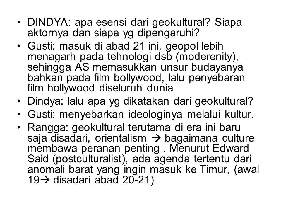 DINDYA: apa esensi dari geokultural