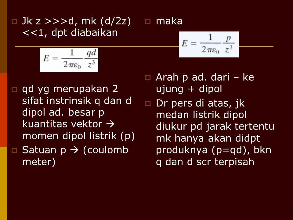 Jk z >>>d, mk (d/2z) <<1, dpt diabaikan