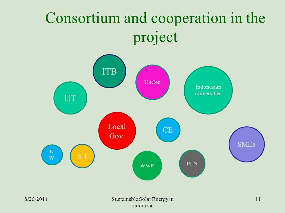 Consortium and cooperation in the project
