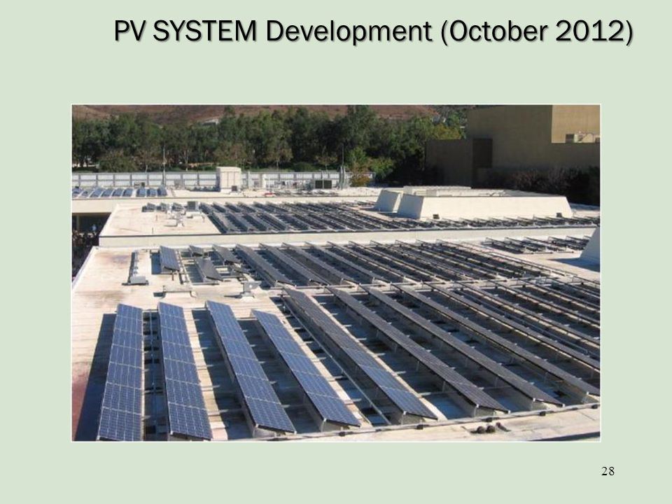 PV SYSTEM Development (October 2012)