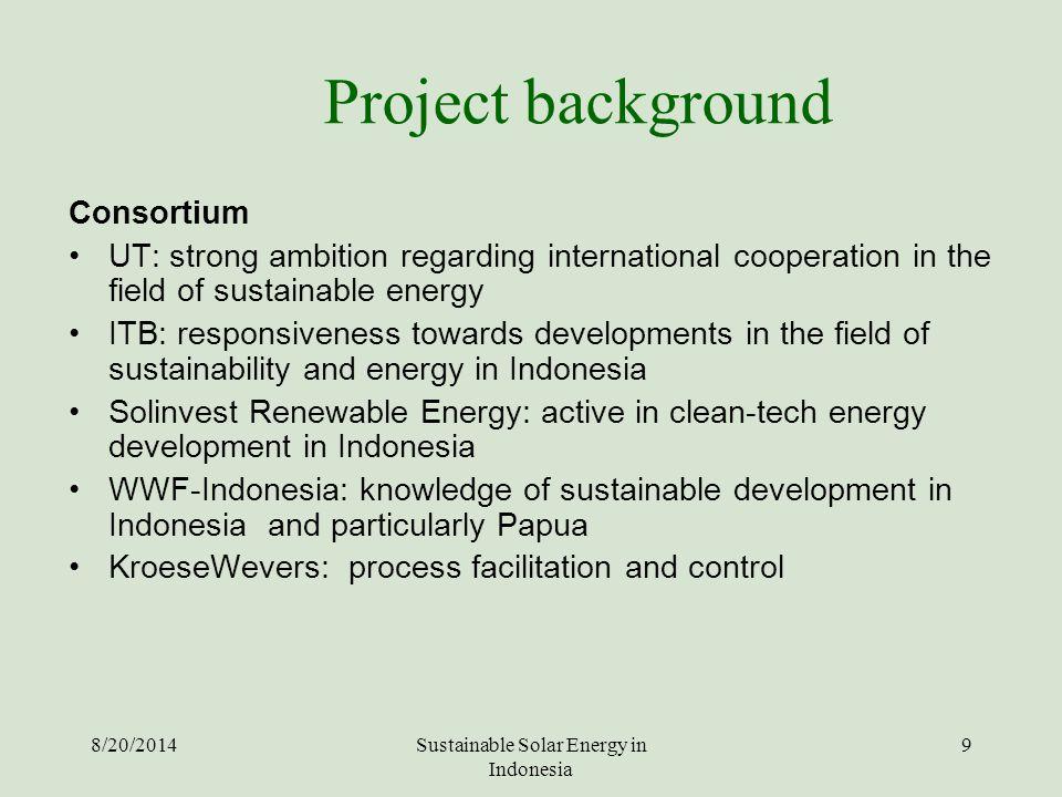 Sustainable Solar Energy in Indonesia