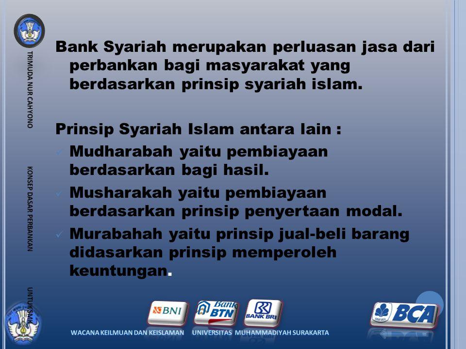 Prinsip Syariah Islam antara lain :