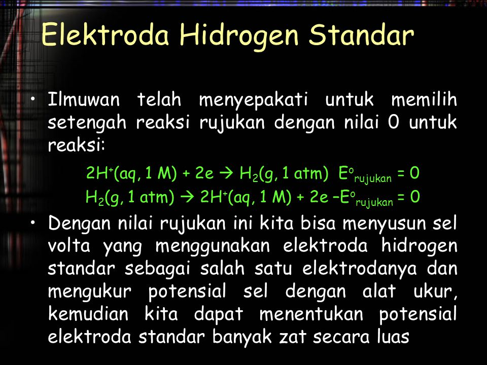 Elektroda Hidrogen Standar