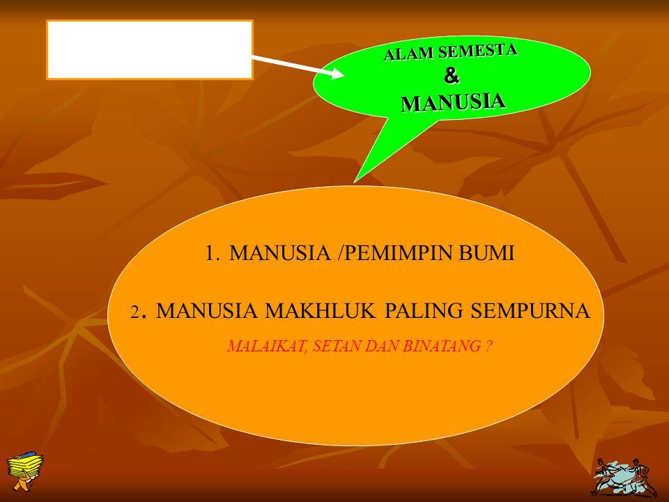 MANUSIA /PEMIMPIN BUMI