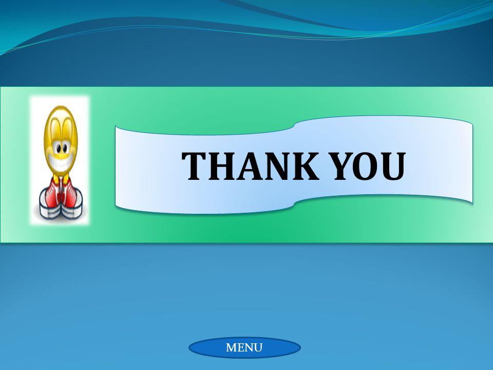 THANK YOU MENU