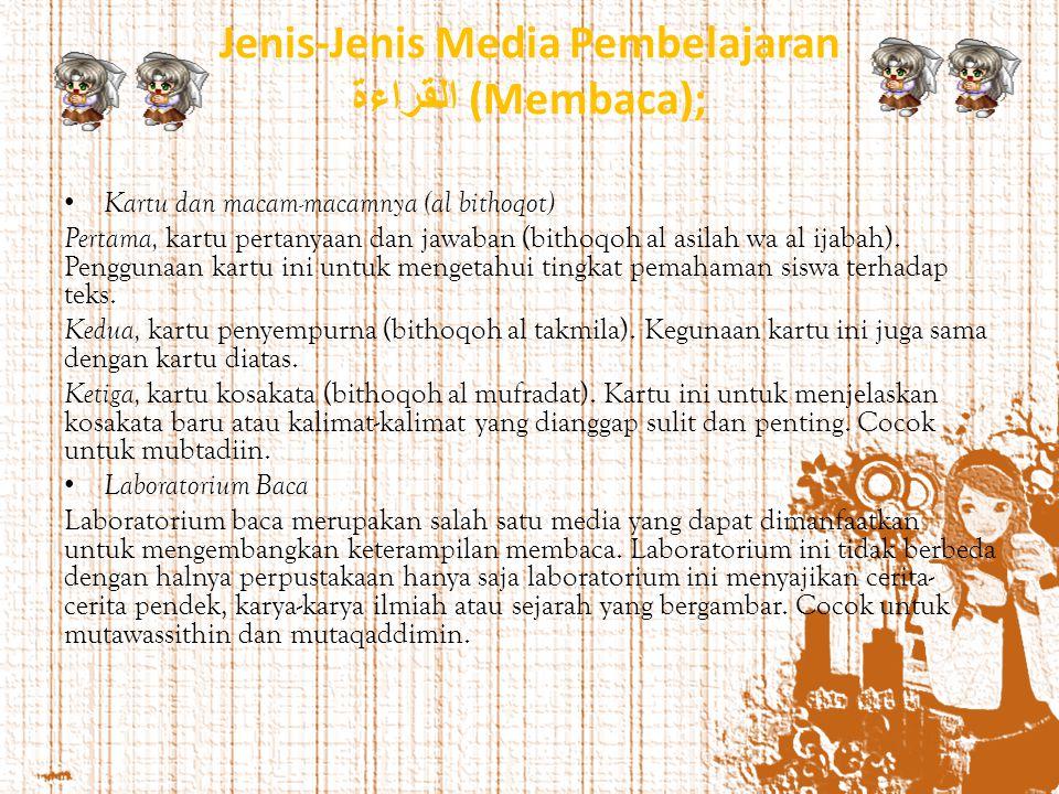 Jenis-Jenis Media Pembelajaran القراءة (Membaca);