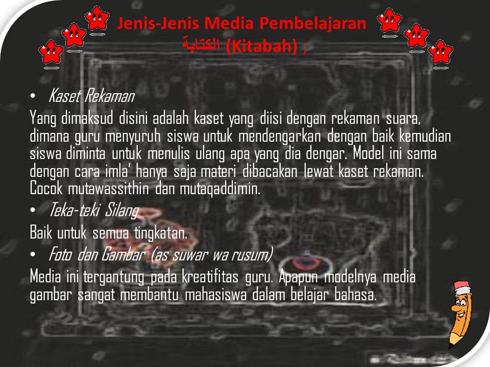 Jenis-Jenis Media Pembelajaran الكتابة (Kitabah) ;