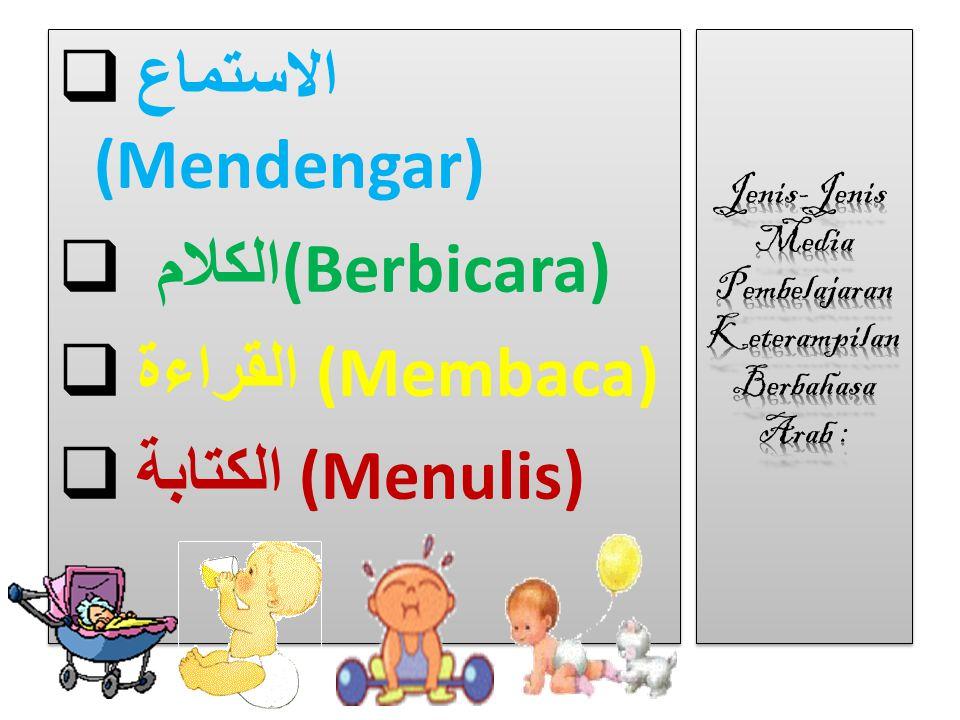 Jenis-Jenis Media Pembelajaran Keterampilan Berbahasa Arab :