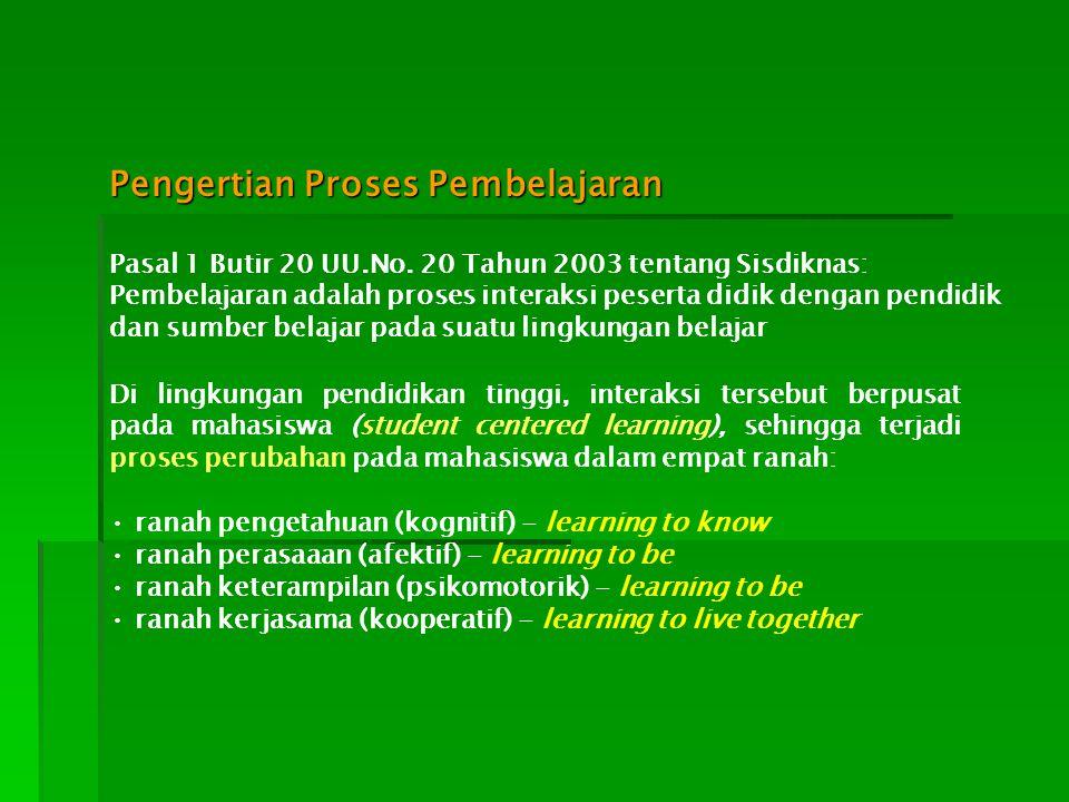 Pengertian Proses Pembelajaran