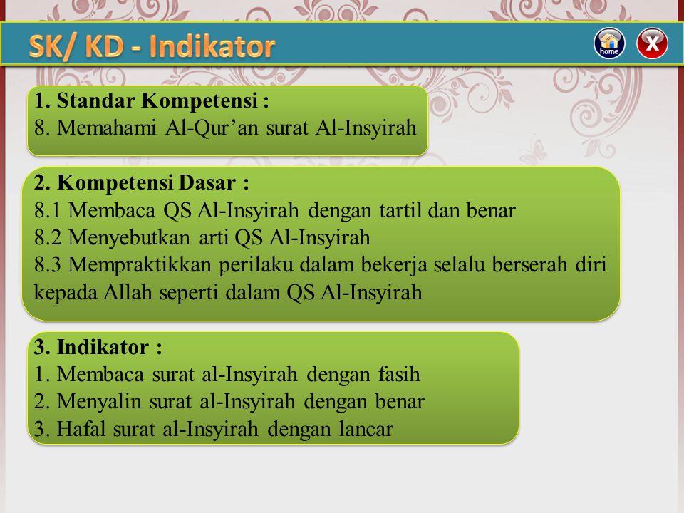 SK/ KD - Indikator 1. Standar Kompetensi :