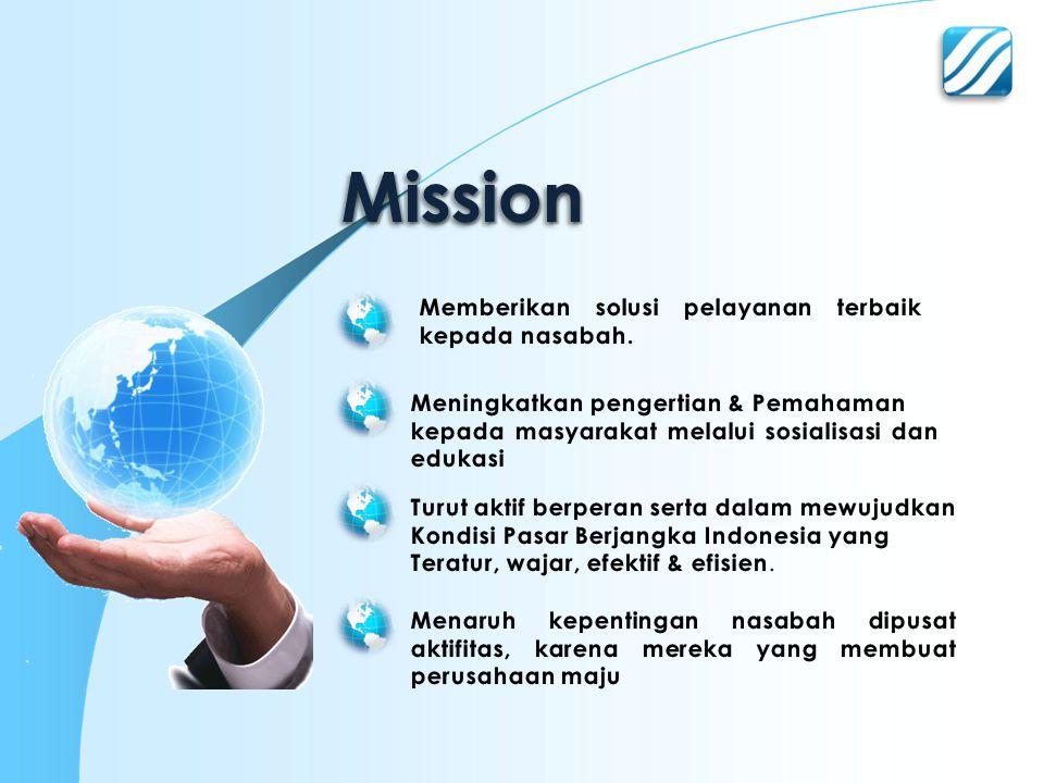 Mission Memberikan solusi pelayanan terbaik kepada nasabah.